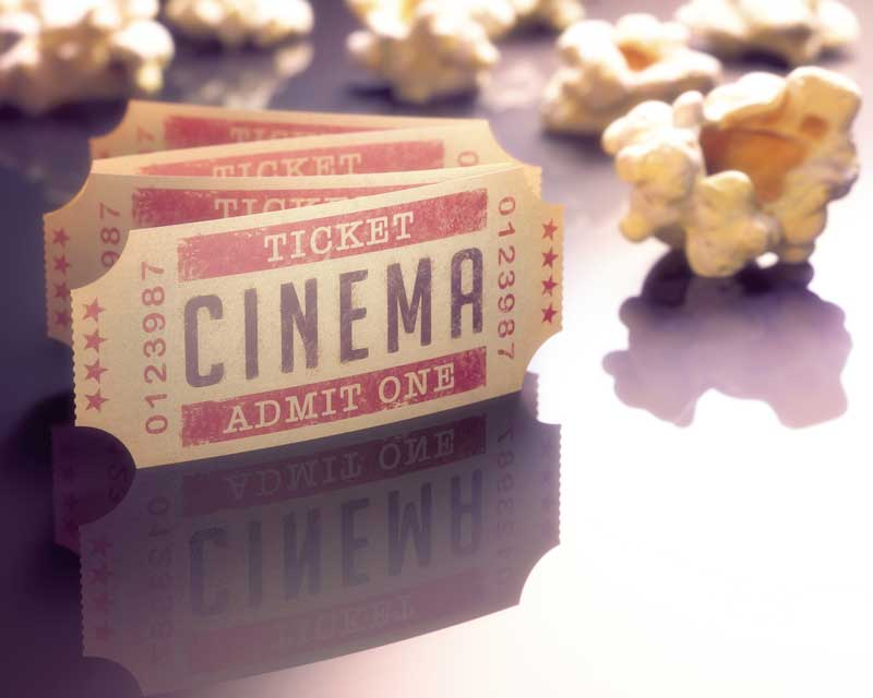 Les tickets de cinéma